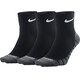 Nike Dry Lightweight Quarter Training Running Socks 3 Pair black